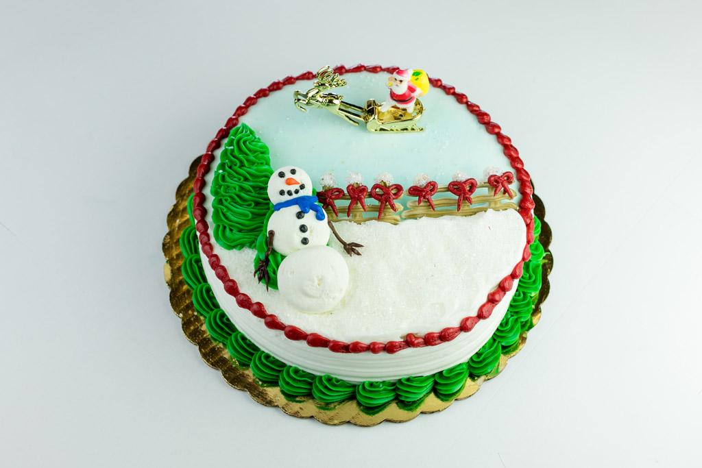 Snowman-Santa-Cake
