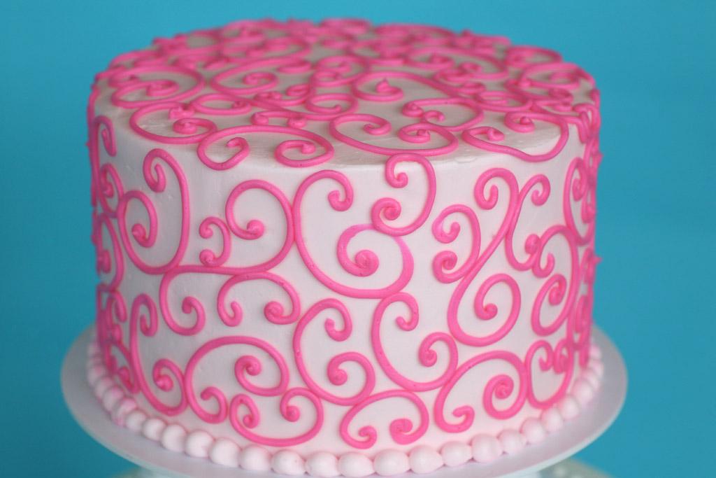 scroll-work-cake