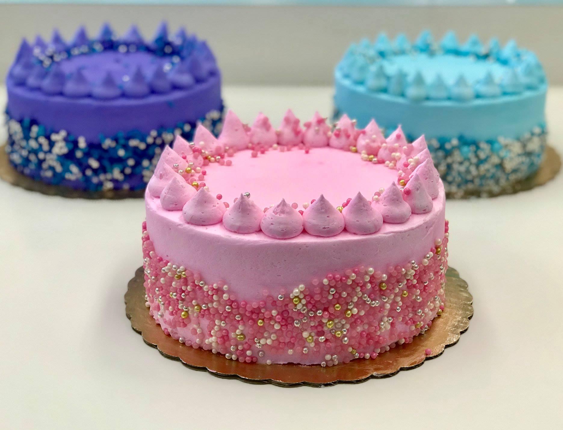 pastel gem cakes